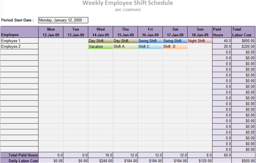 Useful MS Excel and Word Templates for Business Owners – Shipping Schedule Template