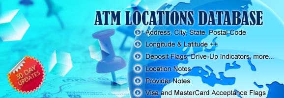 ATM Locations Database
