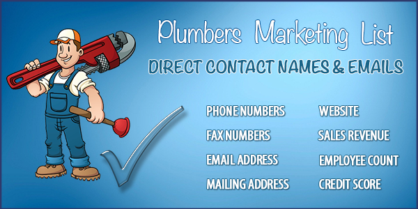 Plumbers Marketing Database Download