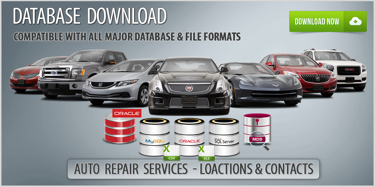 auto repair and painting services database download auto repair