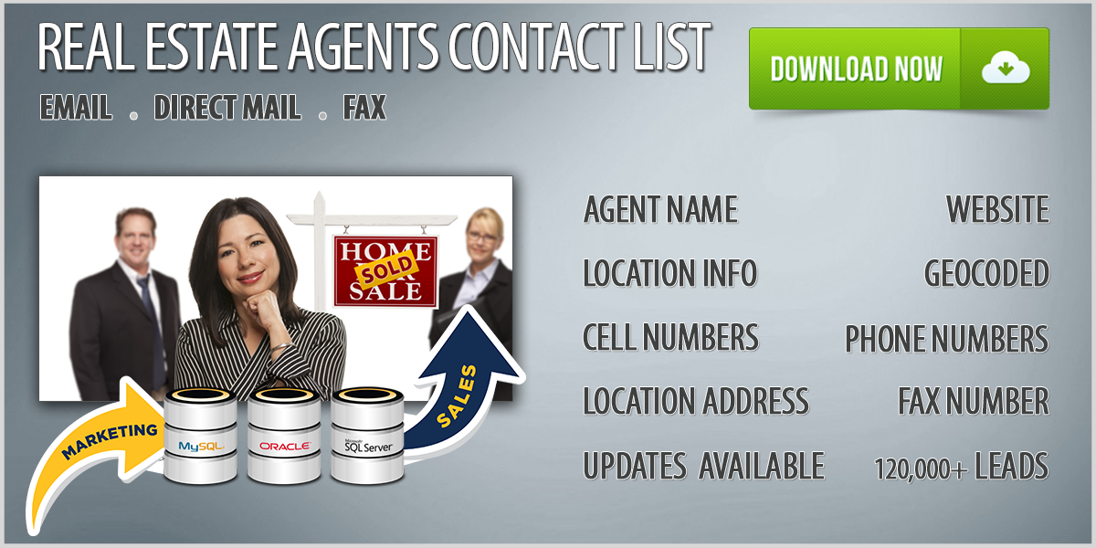 Real Estate Agents Database Download