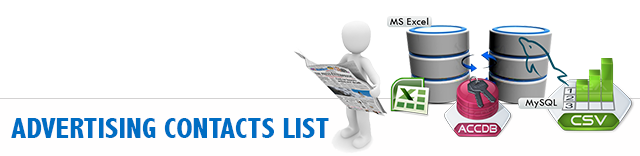 Advertising Contacts Database List