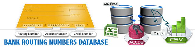 Bank Routing Numbers Database List