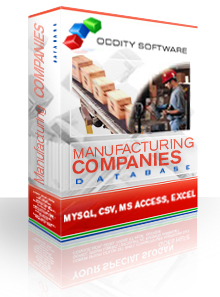 Download Manufacturing Company Contacts Database