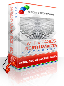 Download North Dakota White Pages Database