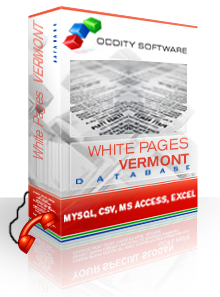 Download Vermont White Pages Database