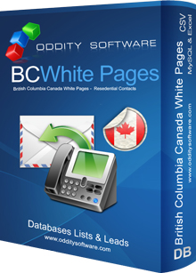 Download British Columbia Canada White Pages Database