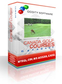 Download Canada Golf Courses Database