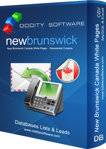 Download New Brunswick Canada White Pages Database