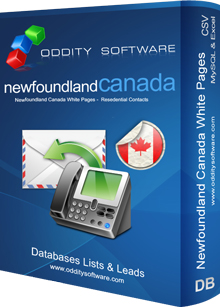 Download Newfoundland Canada White Pages Database