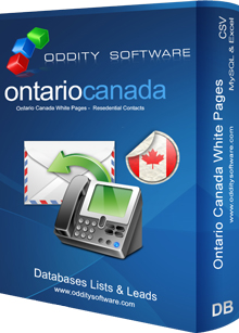 Download Ontario Canada White Pages Database