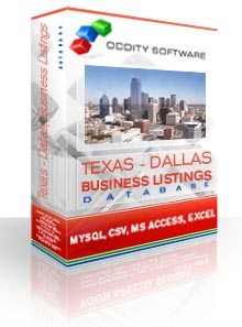 Download Database - Texas - Dallas, Business Listings